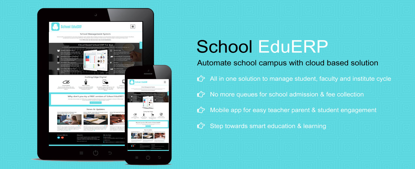 School EduERP Automate school campus with cloud based solution